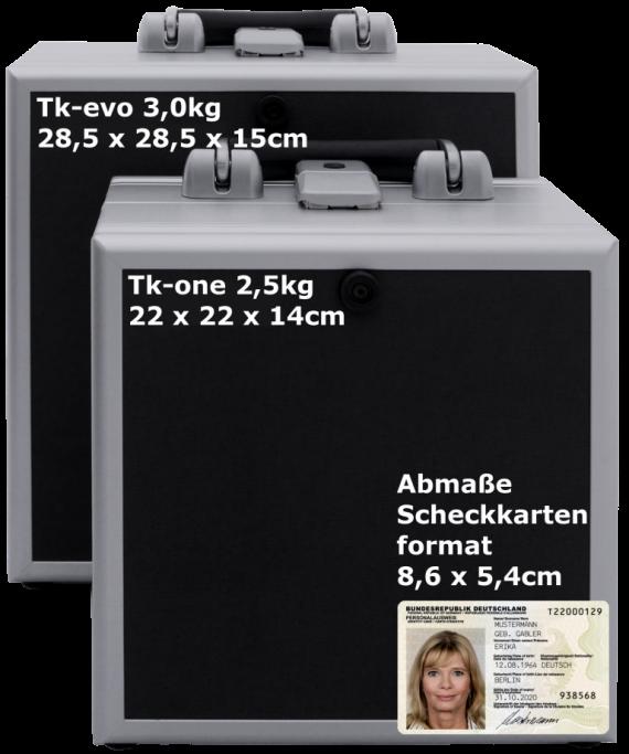 Telefonkoffer von Tk-trainer - EVO-ONE-Größenvergleich-inkl-Maße - Ausweis